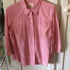 Izod gingham blouse